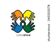 creative hand icons  people's... | Shutterstock .eps vector #340202078