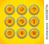 game buttons with icons set 2....