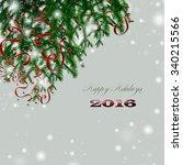 christmas card | Shutterstock . vector #340215566