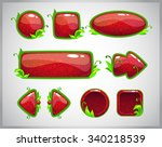 cartoon red glossy buttons with ...