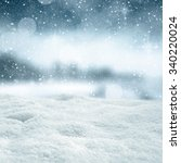 winter snow space  | Shutterstock . vector #340220024