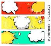 explosion comic bubble  web... | Shutterstock .eps vector #340221623