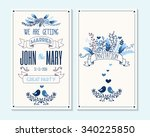 wedding invitation  thank you... | Shutterstock .eps vector #340225850