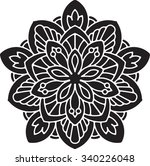 abstract vector black lace... | Shutterstock .eps vector #340226048
