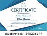 certificate or diploma template | Shutterstock .eps vector #340236149