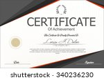 certificate or diploma template | Shutterstock .eps vector #340236230