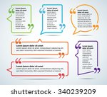 color quote blank templates.... | Shutterstock .eps vector #340239209