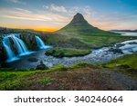 kirkjufell  snaefellsnes... | Shutterstock . vector #340246064