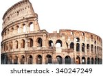 Colosseum In Rome  Italy...