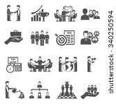 management and business people... | Shutterstock .eps vector #340250594