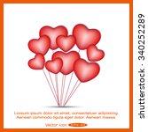 love heart balloon | Shutterstock .eps vector #340252289