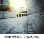 empty  modern square and... | Shutterstock . vector #340253903