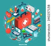 healthcare management for... | Shutterstock .eps vector #340257158