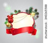 christmas frame background | Shutterstock .eps vector #340265588