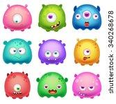 cartoon monsters | Shutterstock .eps vector #340268678