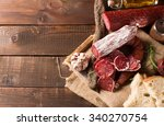 various sausages with free... | Shutterstock . vector #340270754