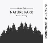 pine forest. nature park | Shutterstock .eps vector #340276970
