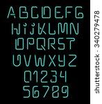 font neon realistic brilliant ... | Shutterstock .eps vector #340279478