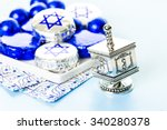 chocolates with star of david... | Shutterstock . vector #340280378