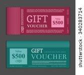 gift voucher template | Shutterstock .eps vector #340283714