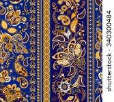 seamless floral pattern.... | Shutterstock . vector #340300484