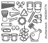 Percussion Instruments. Vector...