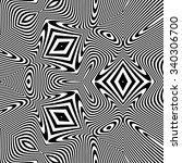 abstract 3d geometrical... | Shutterstock .eps vector #340306700