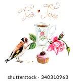 Tea Time. Goldfinch Pecks Cake. ...