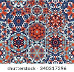 vector seamless red blue one...   Shutterstock .eps vector #340317296