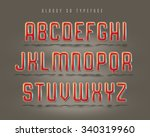 fancy rounded 3d typeface. | Shutterstock . vector #340319960