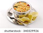 south indian food sambar rice... | Shutterstock . vector #340329926