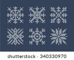 embroidered snowflake. vector...