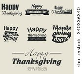 thanksgiving day | Shutterstock .eps vector #340336340
