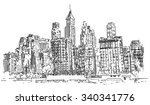 hand drawn city | Shutterstock .eps vector #340341776