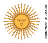 argentina sun of may. sun of...   Shutterstock .eps vector #340356608