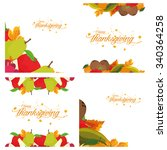set of white backgrounds with... | Shutterstock .eps vector #340364258