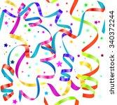 shiny gradient curling... | Shutterstock .eps vector #340372244