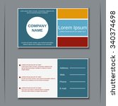 modern business two sided... | Shutterstock .eps vector #340374698