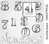 numbers . number four . | Shutterstock .eps vector #340379930