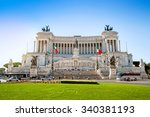 altar of the fatherland  altare ... | Shutterstock . vector #340381193