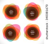set of colorful round abstract... | Shutterstock .eps vector #340381670