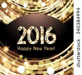 happy new year 2016 card  sniny ... | Shutterstock .eps vector #340384994
