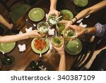 friends party at home. | Shutterstock . vector #340387109