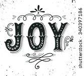 joy. merry christmas retro... | Shutterstock .eps vector #340397186
