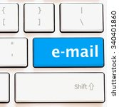 computer keyboard with e mail  | Shutterstock . vector #340401860