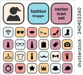 set of vector icons for fashion ... | Shutterstock .eps vector #340403360