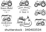 Set Of Logos With The Tractor...