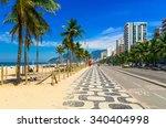ipanema beach with mosaic of... | Shutterstock . vector #340404998