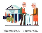 cool vector pension fund... | Shutterstock .eps vector #340407536