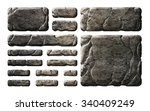 a set of stone buttons  panels...